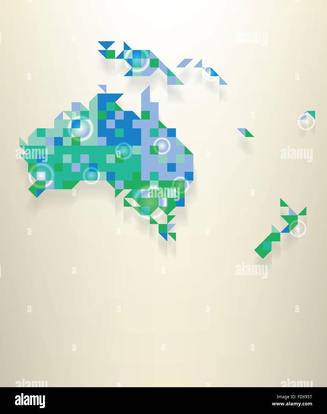 Carte Bleue Transparente.Carte Bleue De L Oceanie Avec Blanches Rondes Bagues Transparent Qui