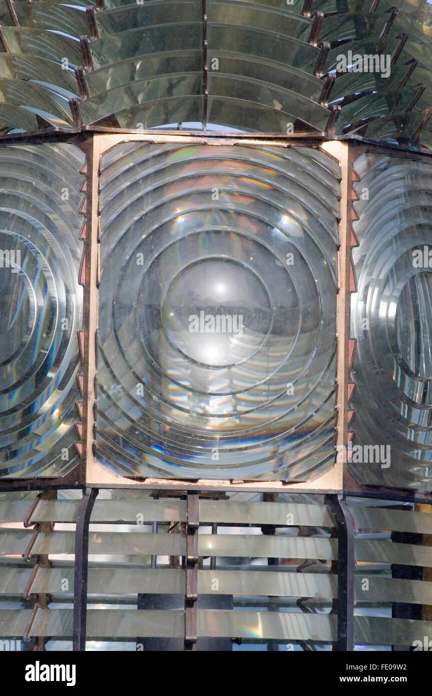 Lentilles de réfraction lentille de Fresnel optique indice de réfraction lumière ampoule ampoules Photo Stock