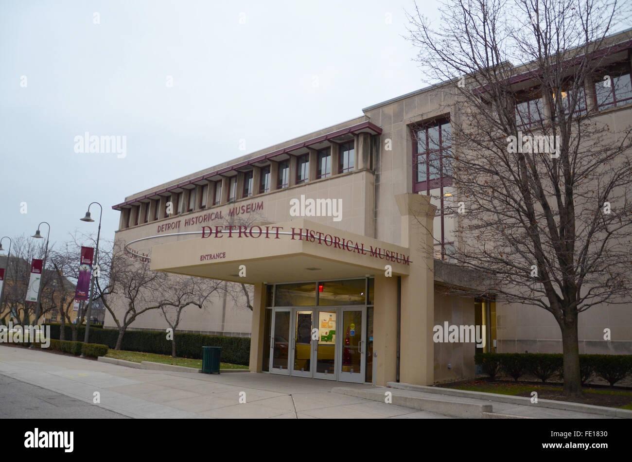 DETROIT, MI - 20 décembre: le Detroit Historical Museum, montré le 20 décembre 2014, est l'hôte Photo Stock