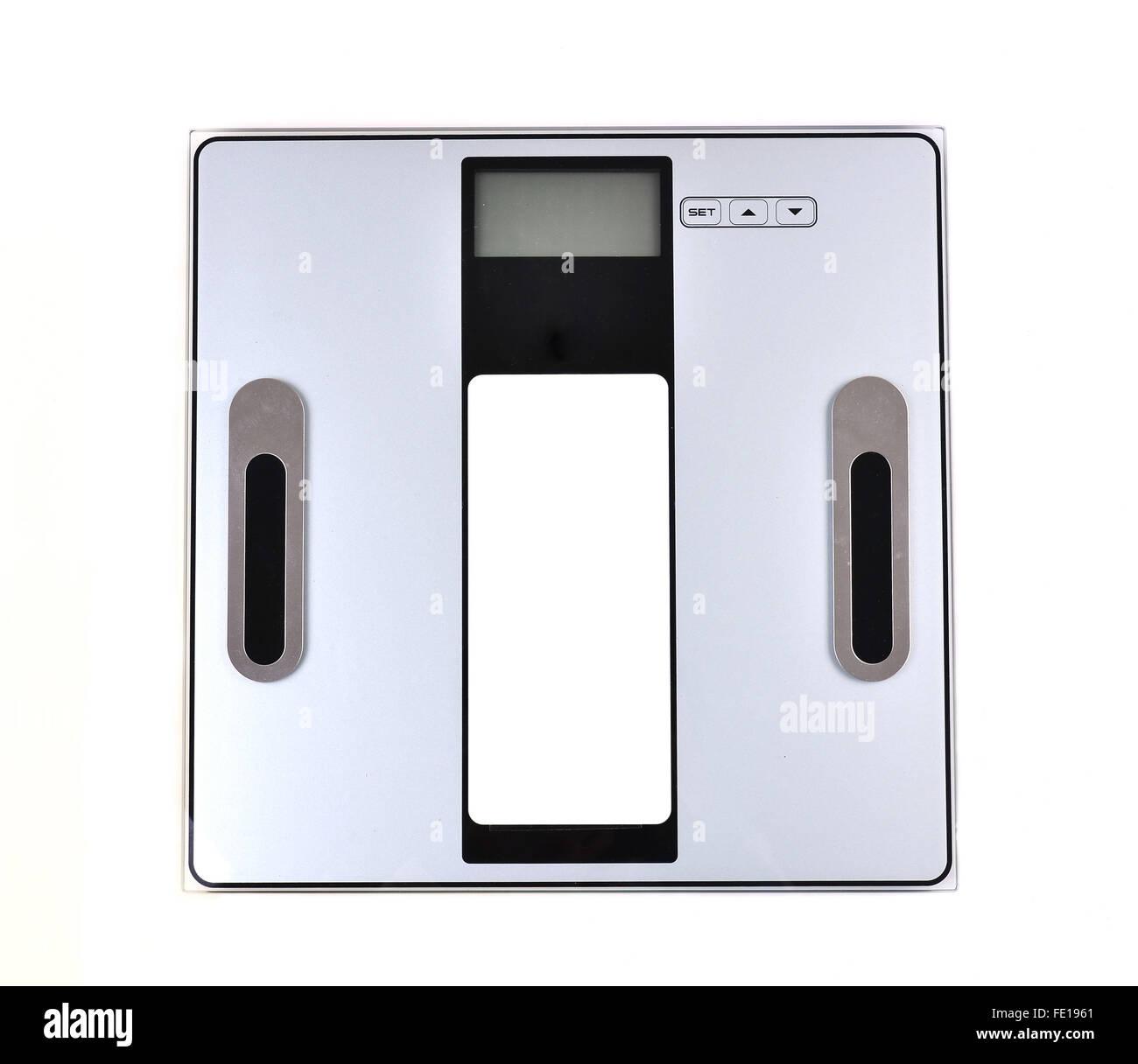 Balance numérique isolé sur fond blanc Photo Stock