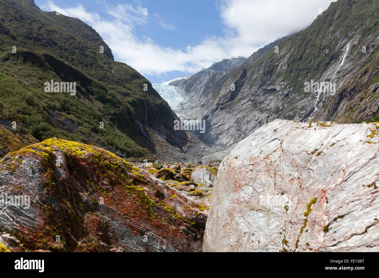 Franz Joseph Glacier, Nouvelle-Zélande Photo Stock