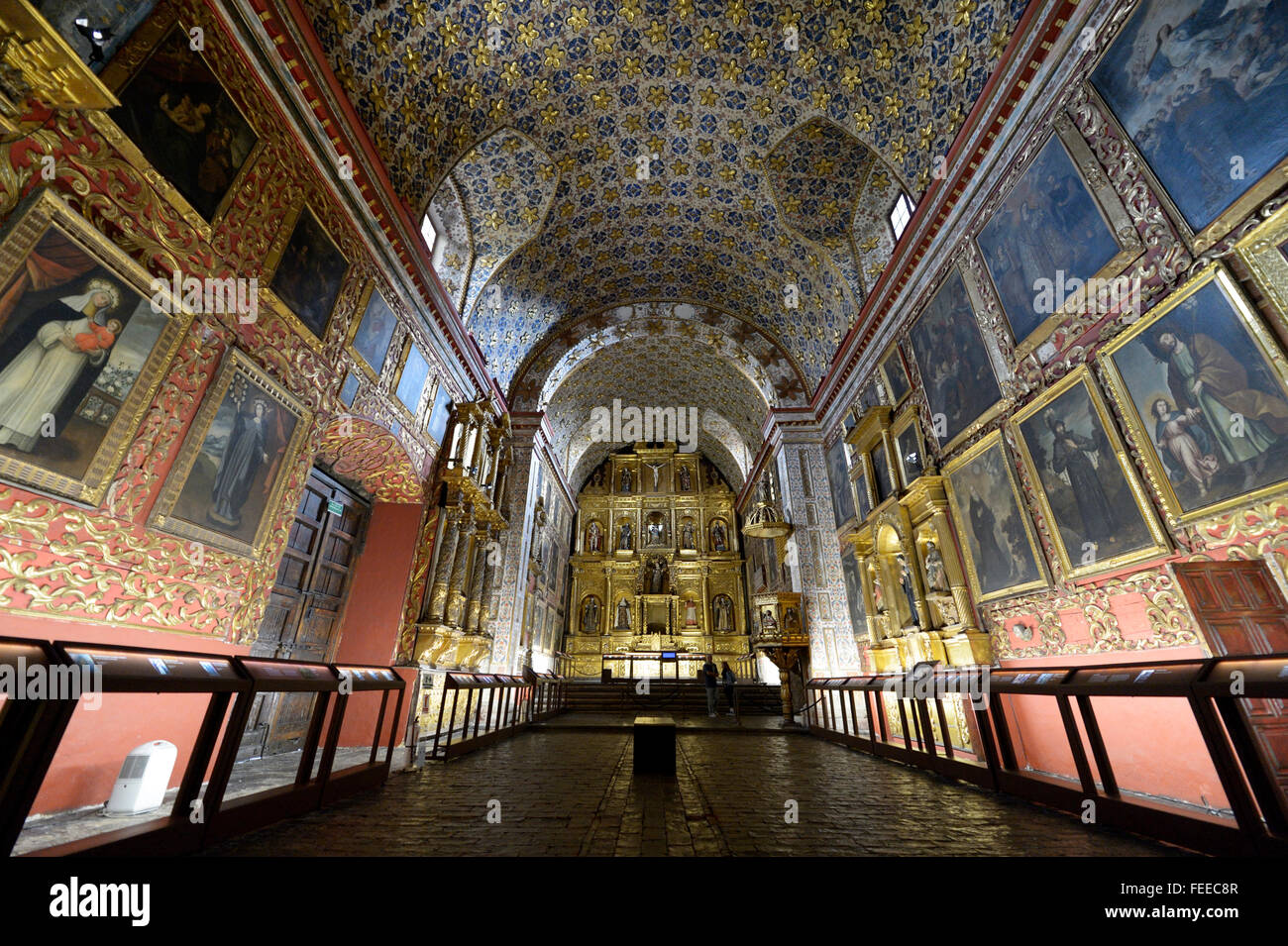 Abbaye et musée Museo Iglesia de Santa Clara, Bogota, Colombie Photo Stock