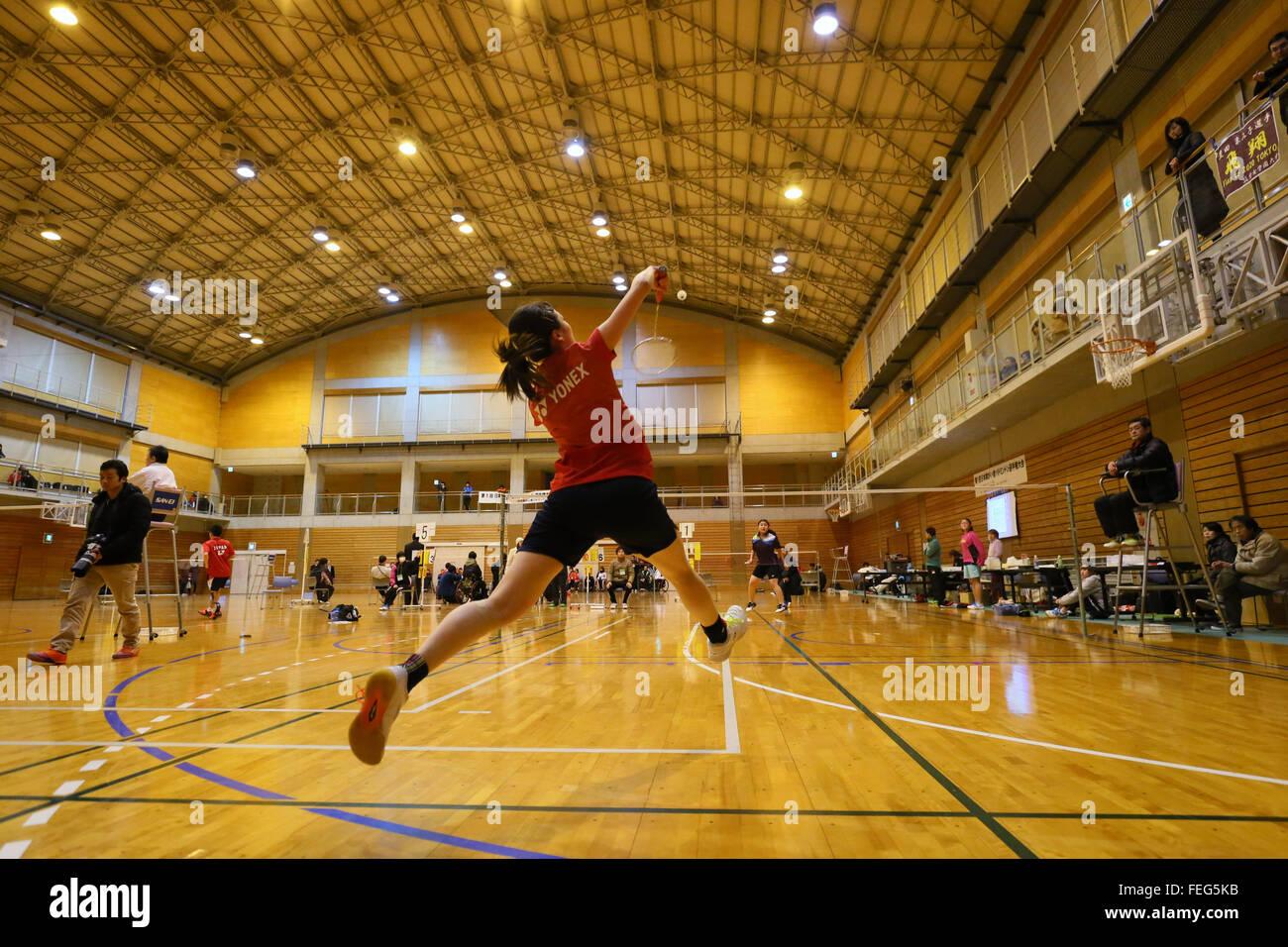 Gymnase de l'ouest de la ville de Kurume, Fukuoka, Japon. Feb 6, 2016. Mamiko Toyoda, le 6 février 2016 Photo Stock