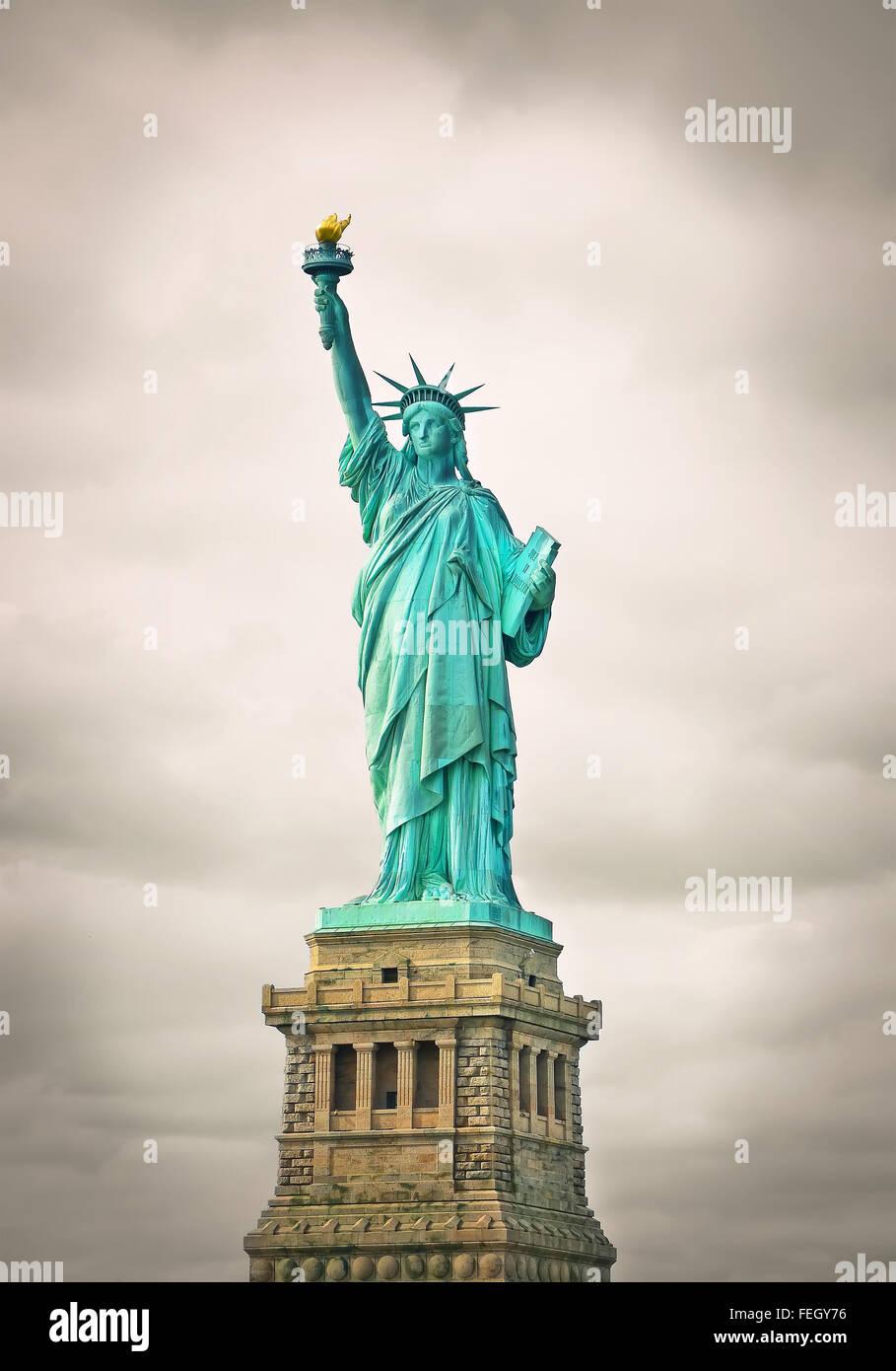 La statue de la liberté à new york city Photo Stock