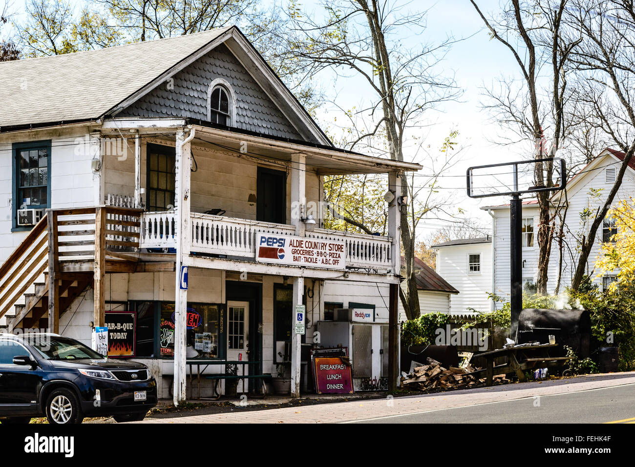 Aldie Country Store, 39285 John Mosby Autoroute, Aldie, Virginie Banque D'Images
