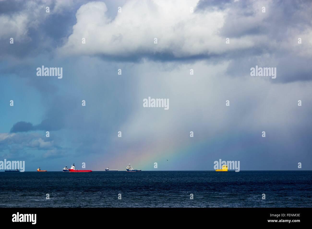 Les pétroliers en mer Banque D'Images
