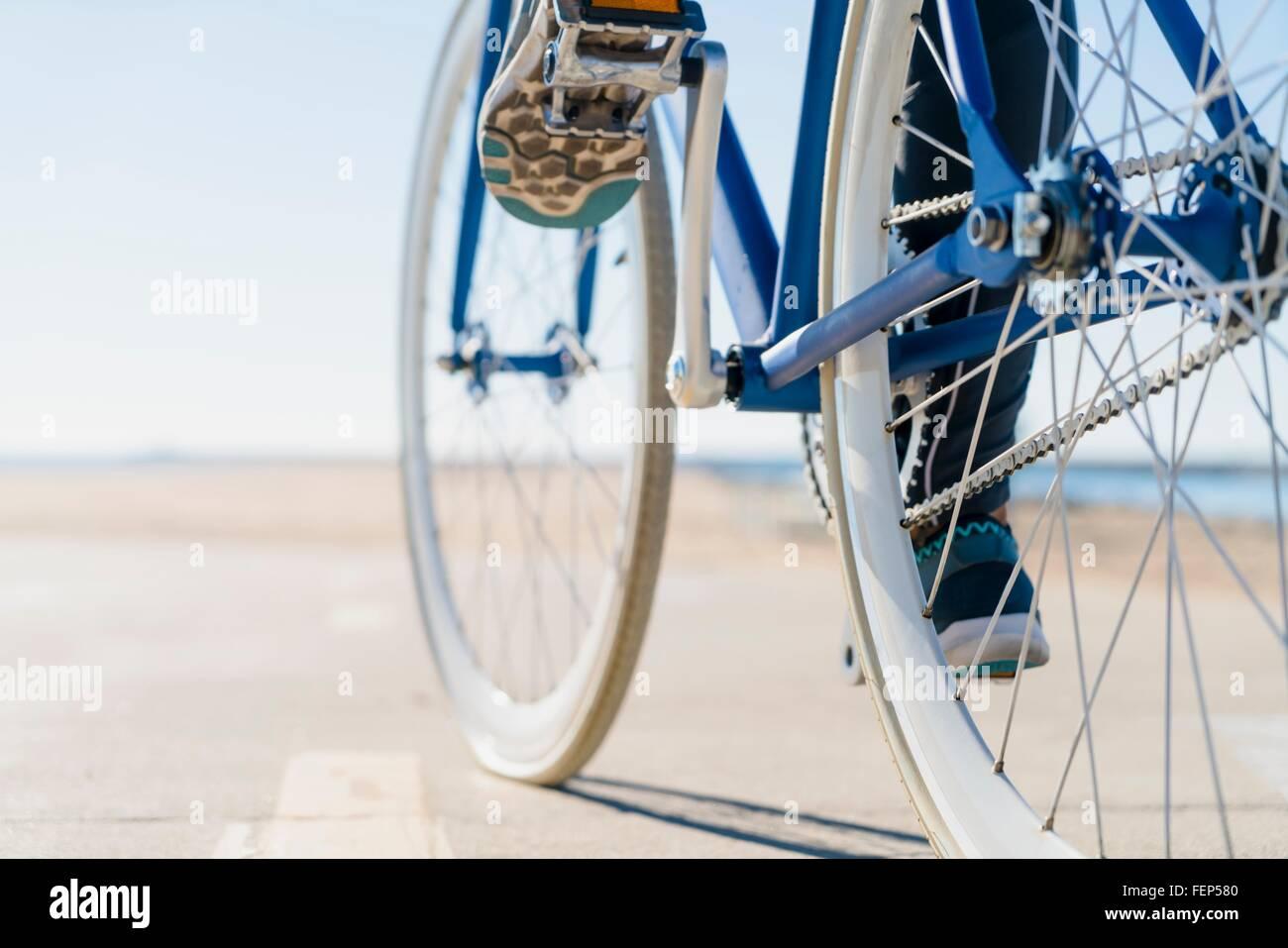 Vélo femme, faible section, close-up Photo Stock
