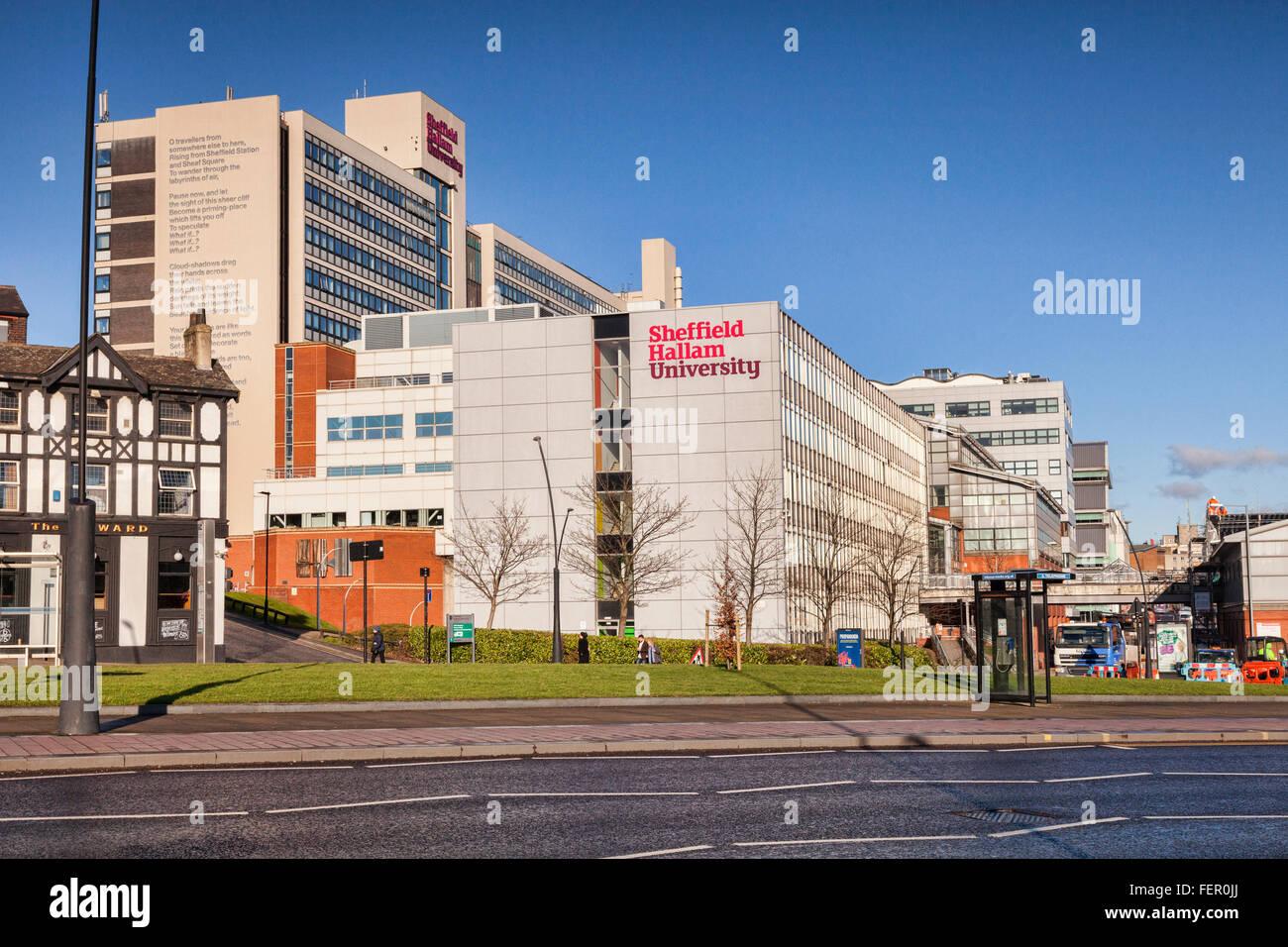 Sheffield Hallam University, Sheffield, South Yorkshire, Angleterre, Royaume-Uni Photo Stock
