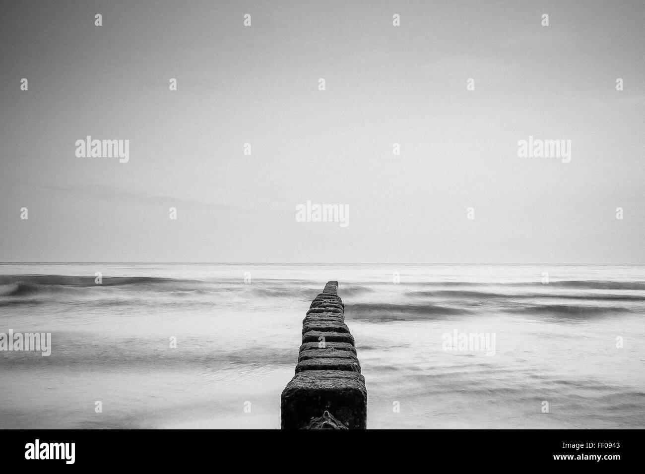 Océan Océan Monochrome monochrome Photo Stock