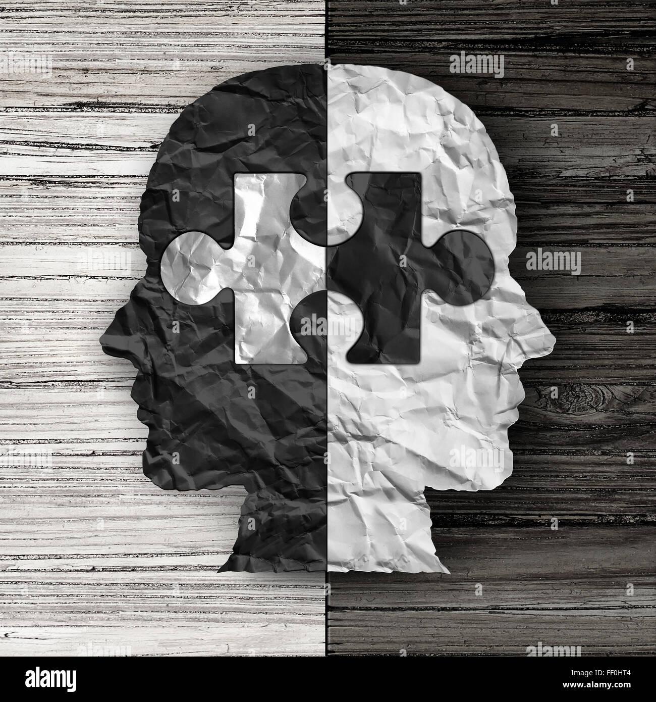 La question sociale et l'égalité ethnique ou culturel concept symbole de justice comme un papier froissé Photo Stock
