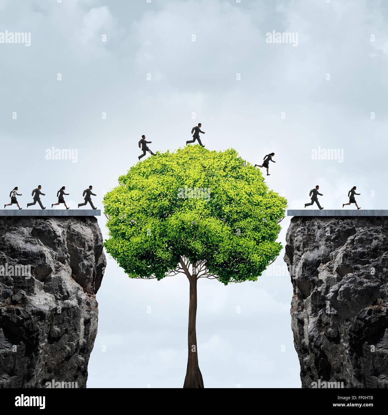 La croissance de l'entreprise occasion concept comme un groupe de gens d'affaires en profitant d'un Photo Stock