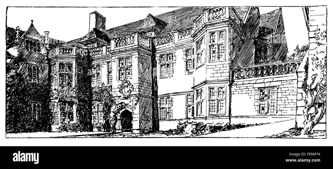 Maison de campagne anglaise dessin de reginald blomfield theodore à partir dune histoire de larchitecture de la renaissance en angleterre