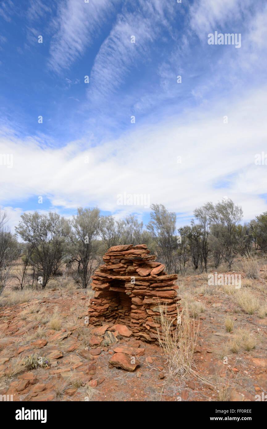 Réserve Historique Arltunga, ville fantôme de la ruée vers l'or, le Territoire du Nord, Australie Photo Stock