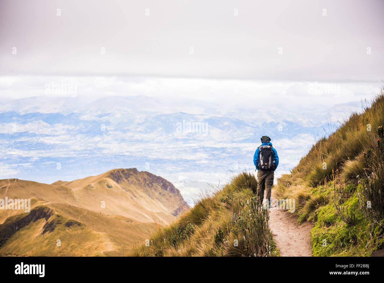 VoRMcano Rucu Pichincha trek, Quito, Pichincha Province, l'Équateur, en Amérique du Sud, Amérique du Sud Banque D'Images