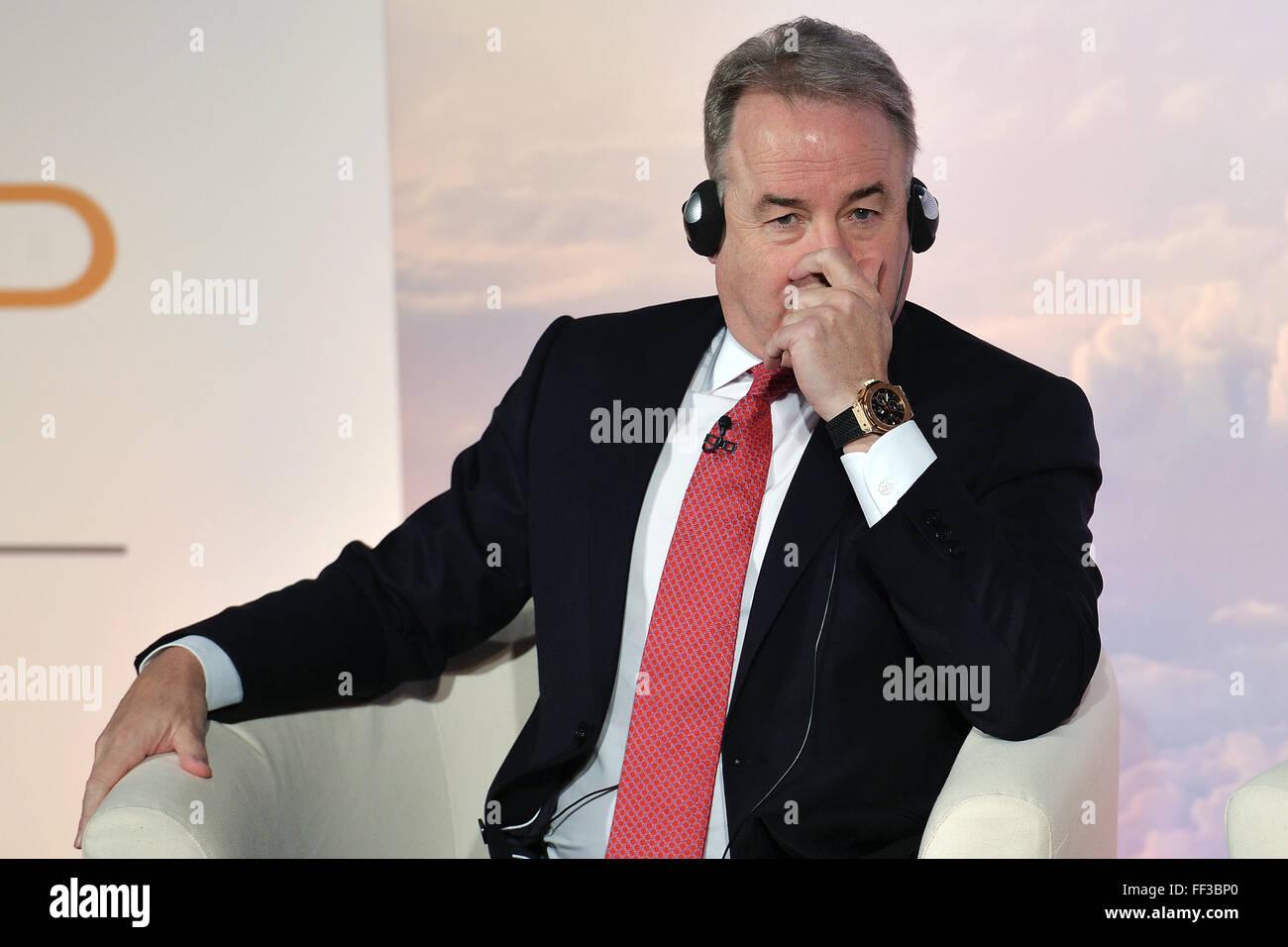 James Hogan, président et chef de la direction d'Etihad Aviation Group et vice-président d'Alitalia Roma 20-01-2015 R St. Banque D'Images