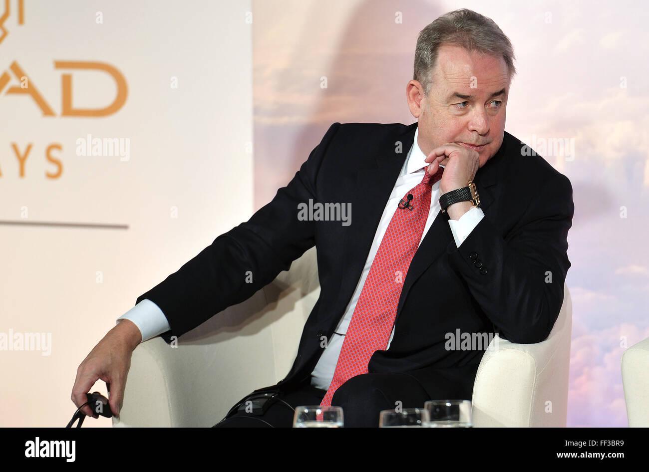 James Hogan, président et chef de la direction d'Etihad Aviation Group et vice-président d'Alitalia Photo Stock