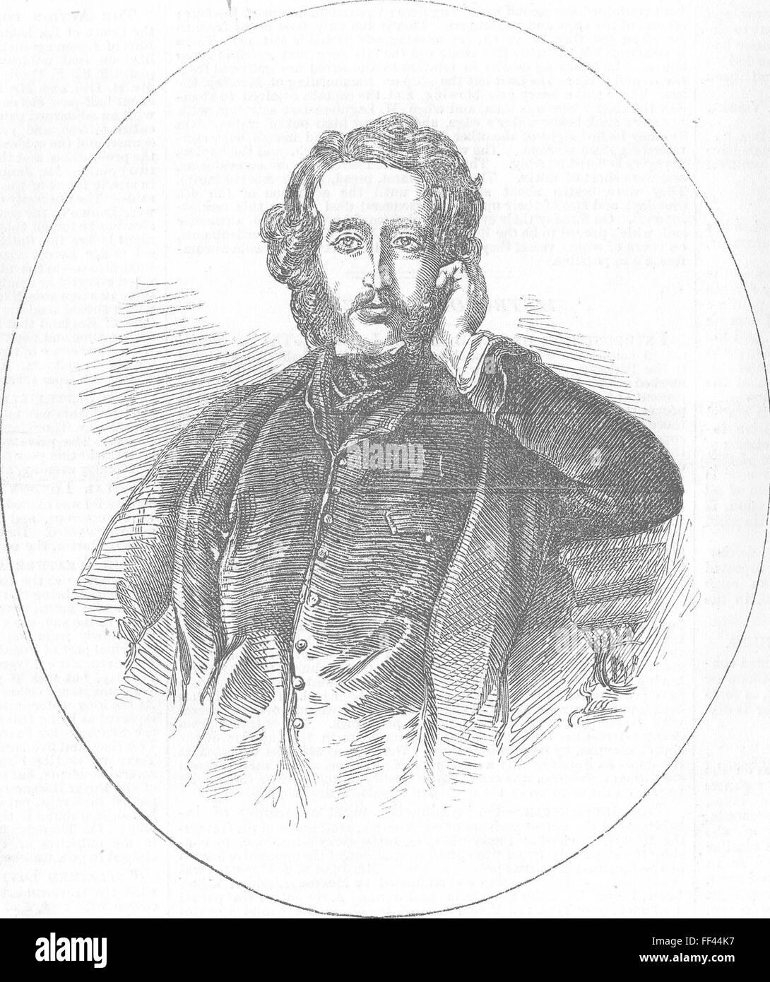 L'ÉCOSSE Edward Bulwer Lytton, Recteur de l'Université 1856. Illustrated London News Banque D'Images