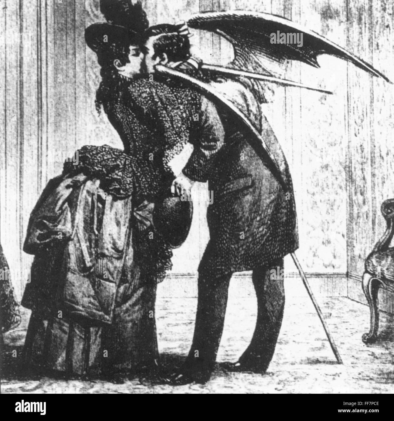 VAMPIRE. /NWood gravure, fin du xixe siècle Banque D'Images, Photo ...