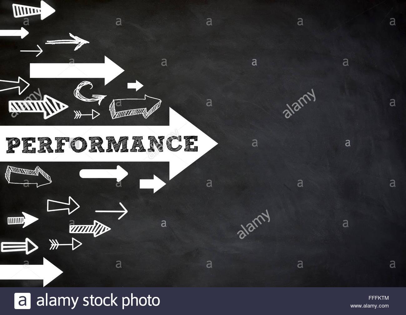 Performance - direction Photo Stock