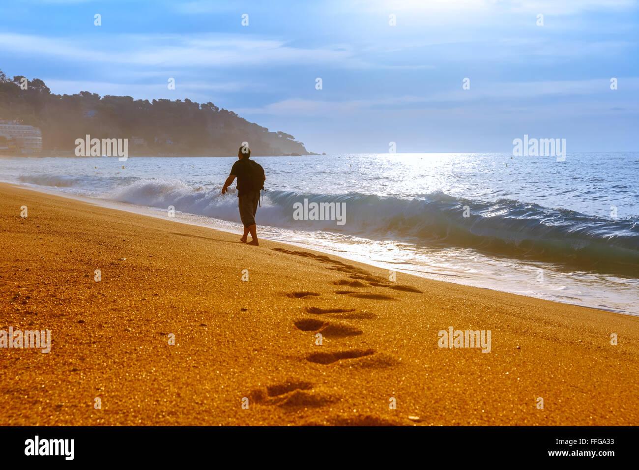 Lloret de Mar, sur la Costa Brava, Catalogne, Espagne Photo Stock d68ecca9a549