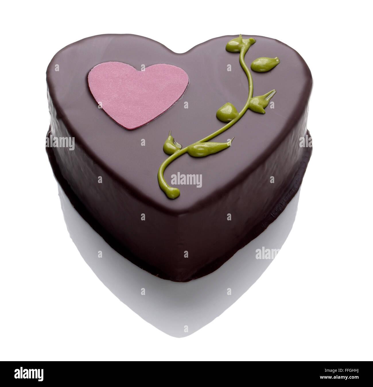 Valentines Day gâteau au chocolat Banque D'Images