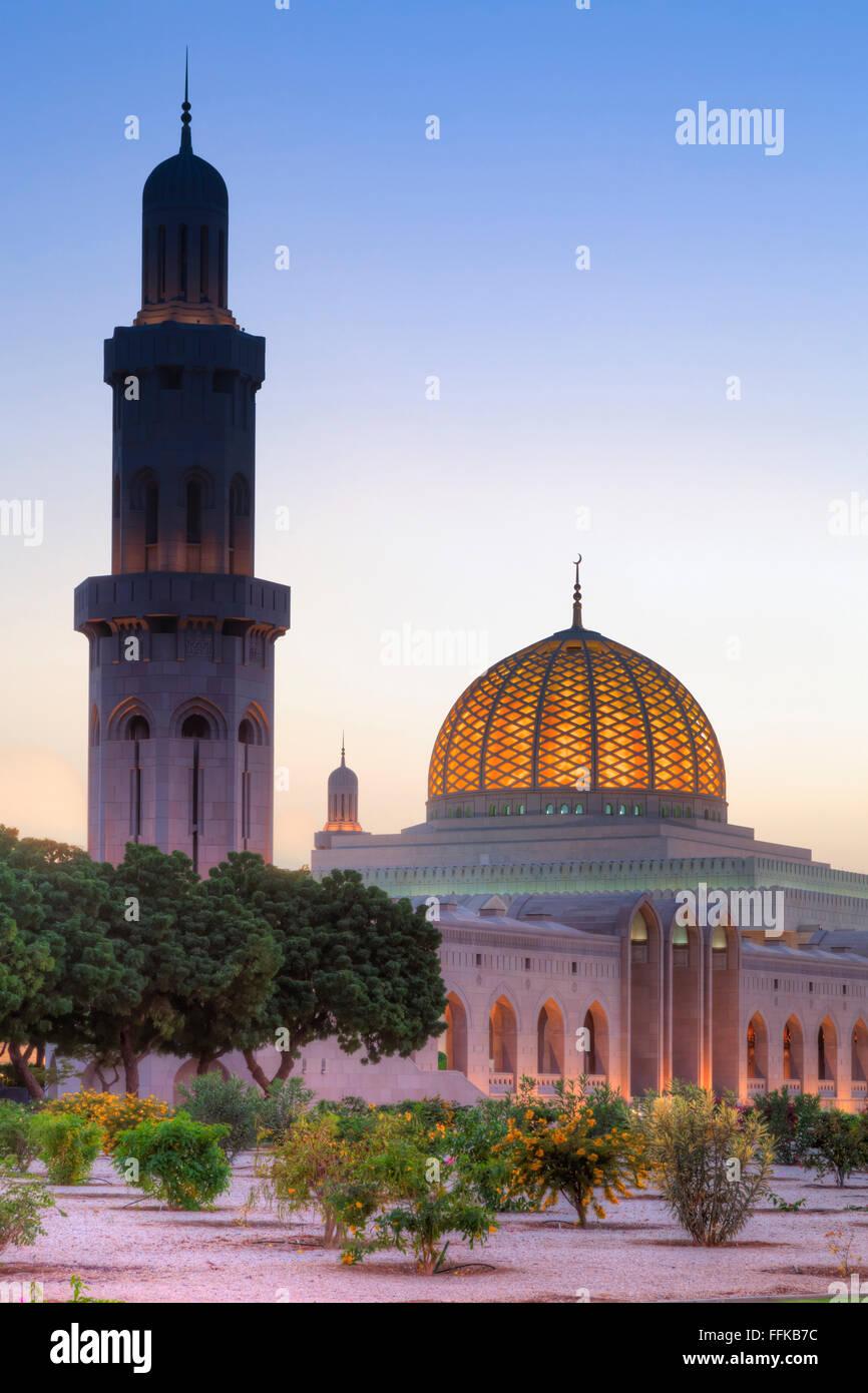 Grande Mosquée Sultan Qaboos, Muscat, Sultanat d'Oman Photo Stock