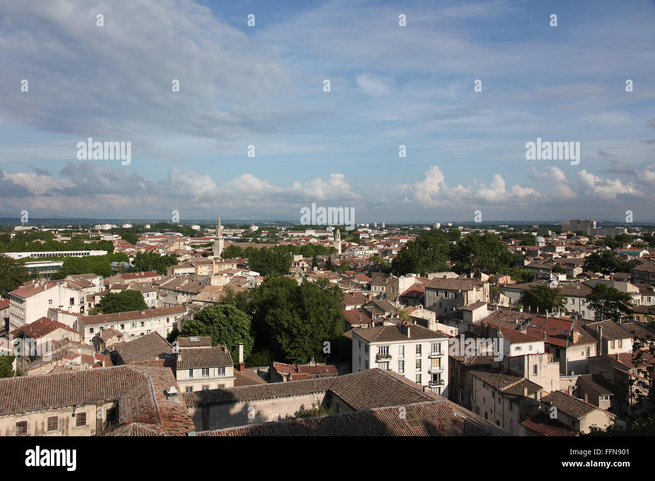 Géographie / voyages, France, Avignon, vue sur la ville, , Additional-Rights Clearance-Info-Not-Available- Photo Stock