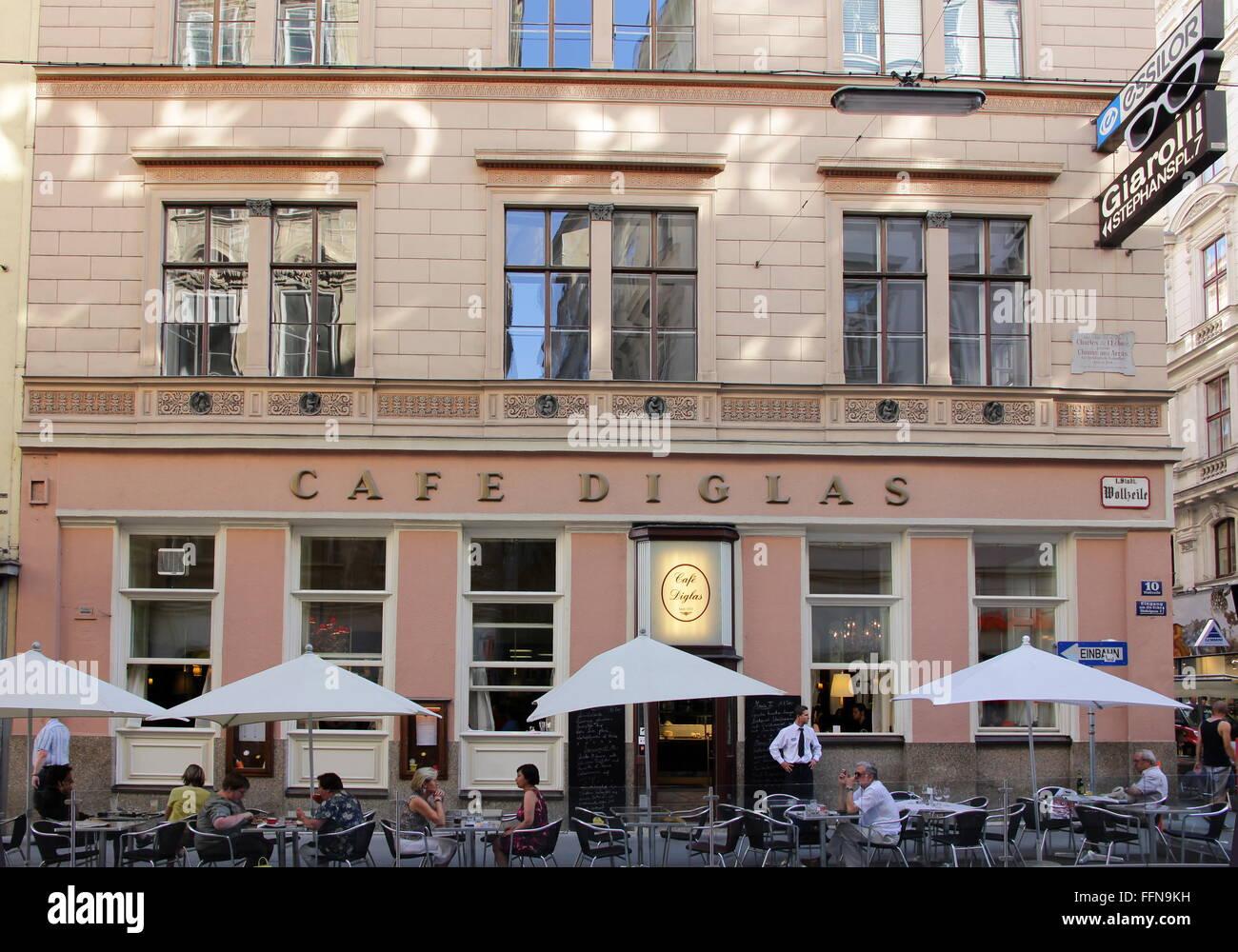 Géographie / voyage, Autriche, Vienne, gastronomie, café Diglas, vue extérieure, Additional-Rights Photo Stock