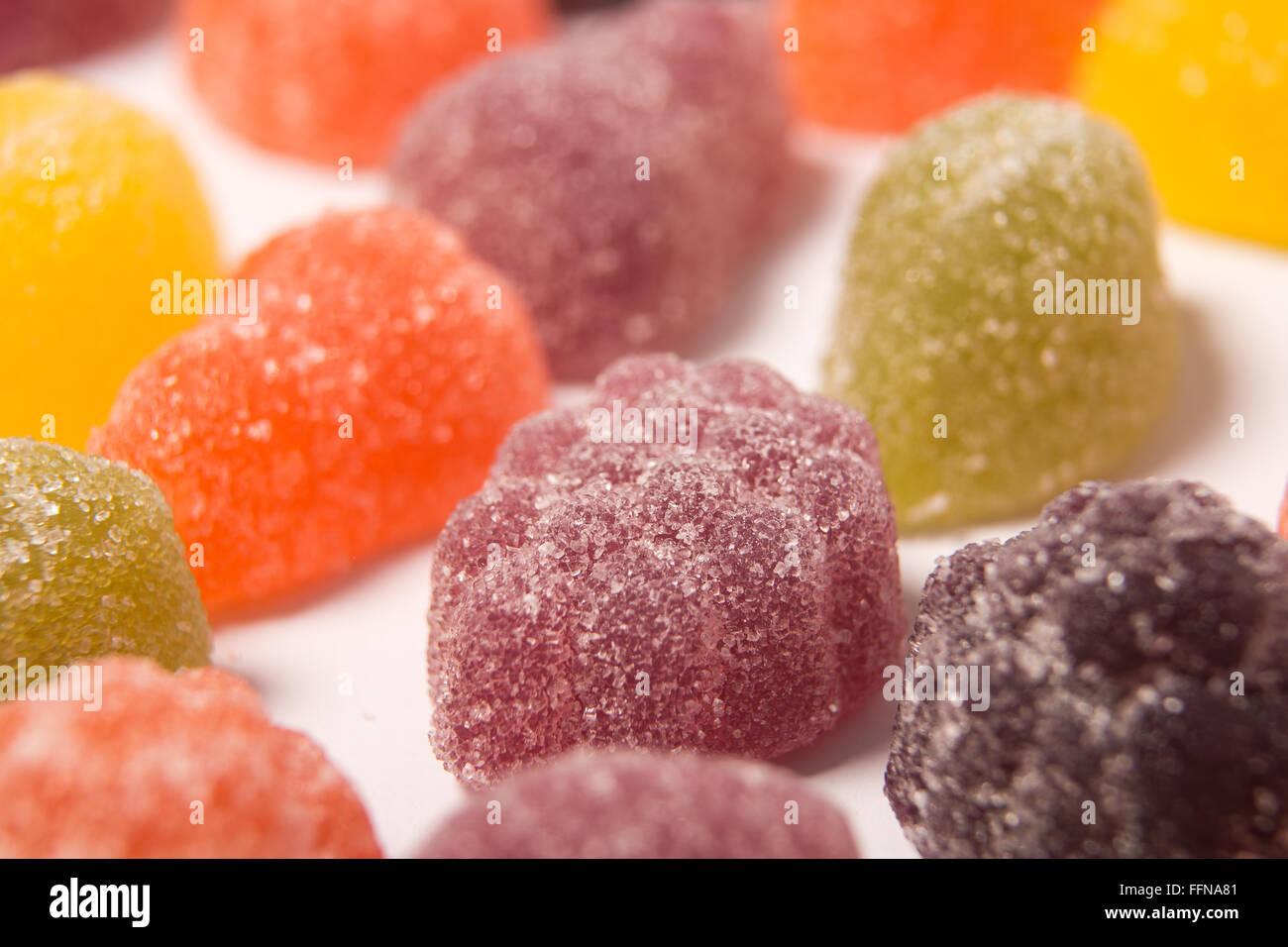 Les pastilles aux fruits fruit pastels Banque D'Images
