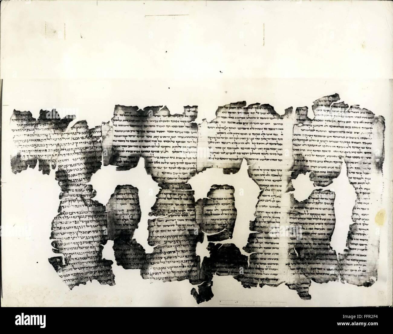 1966 - Le plus ancien manuscrit de la Bible s'agit de la