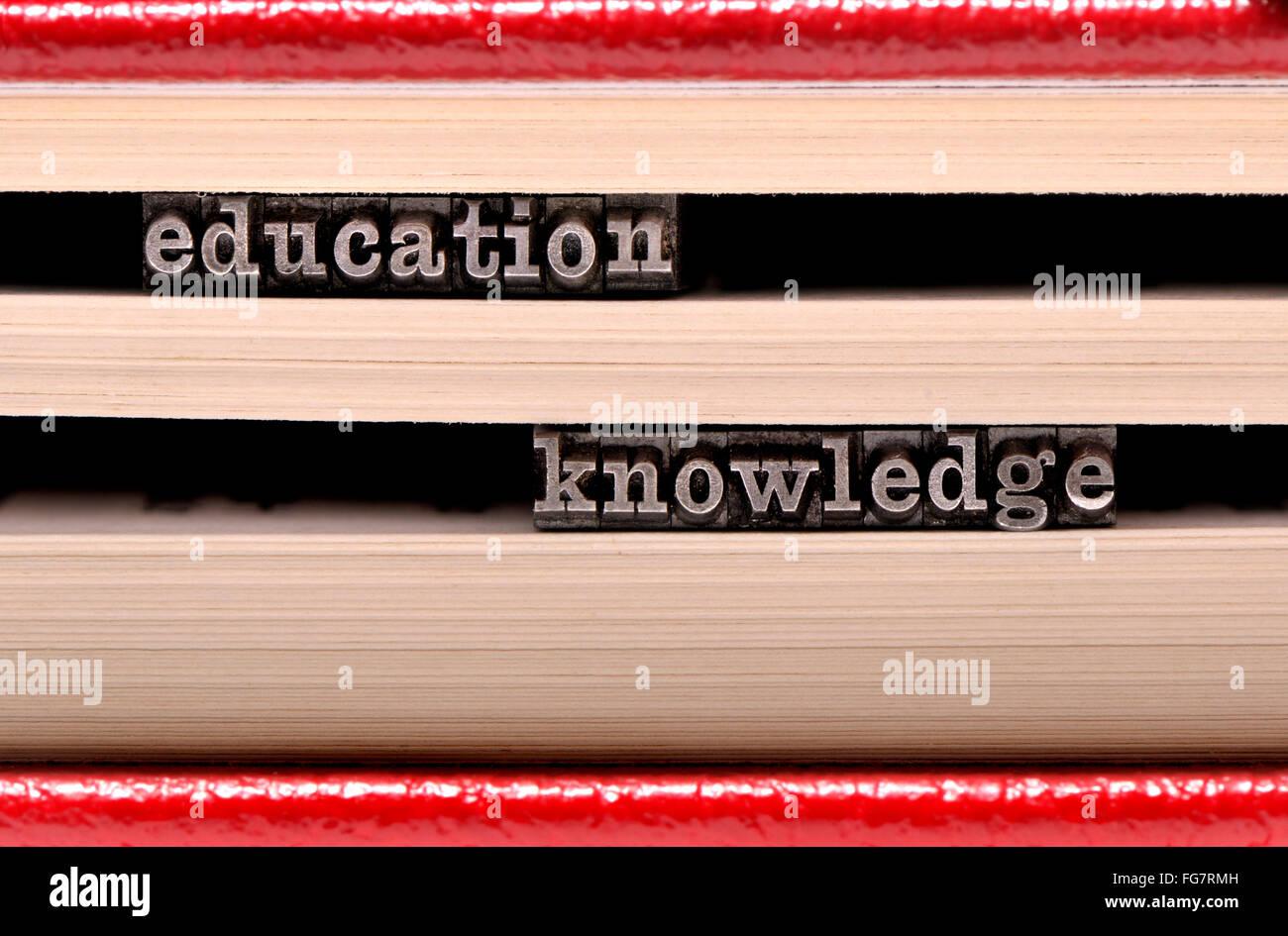 Caractères typographiques, à l'éducation / connaissance Photo Stock