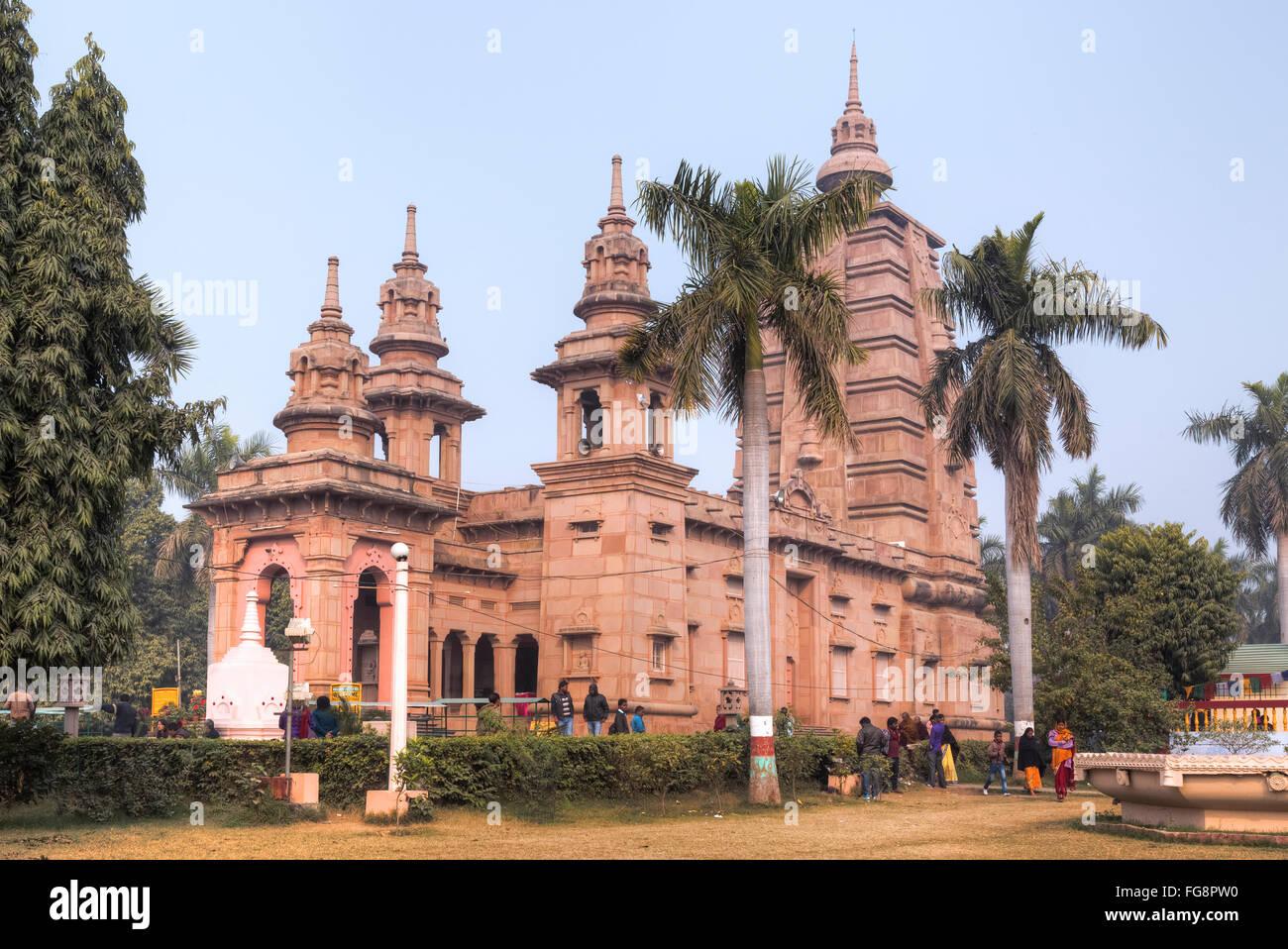 Temple Sarnath, Varanasi, Uttar Pradesh, Inde Photo Stock