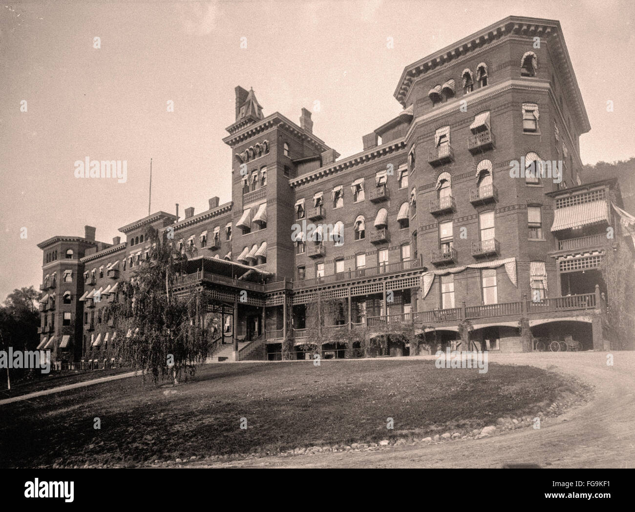 Rues de New York à la fin du 19e siècle Photo Stock