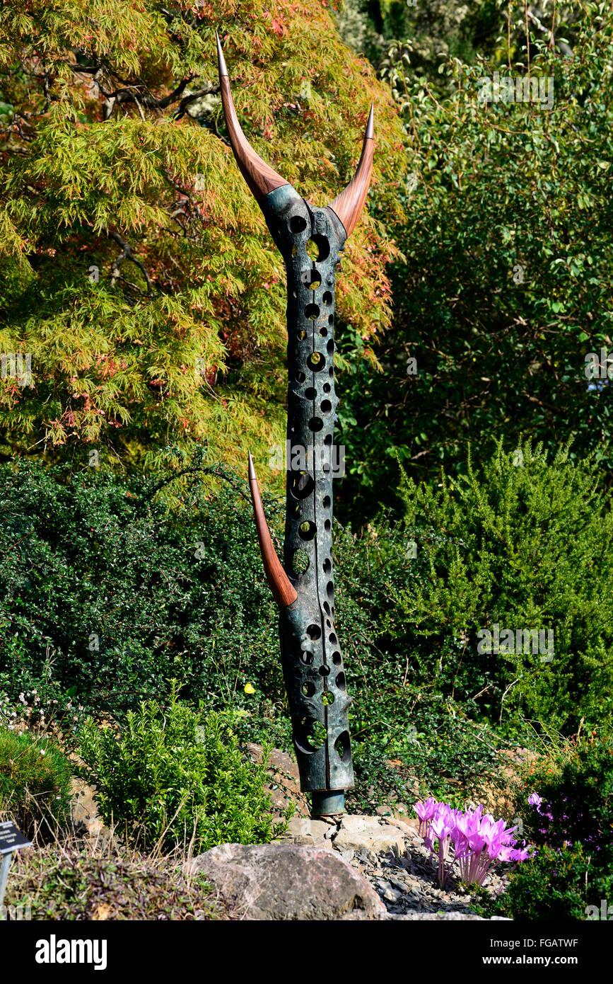 Celaeno Richard Heffernan sculpture dans le cadre de l'exposition exposition d'art de Dublin Jardins Botaniques Photo Stock