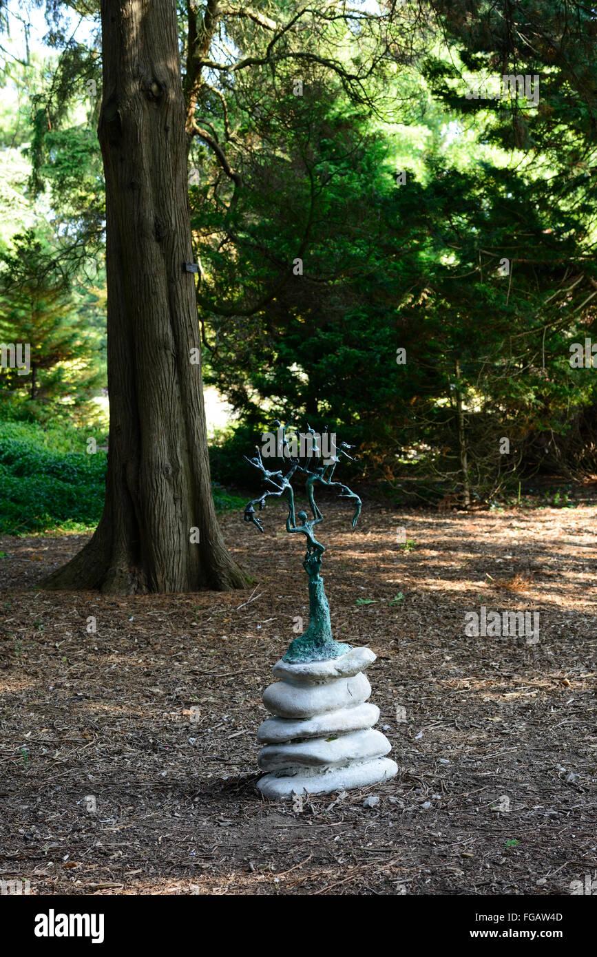 Arbre de vie Alison Ducker sculpture dans le cadre de l'exposition exposition d'art de Dublin Jardins Botaniques Photo Stock