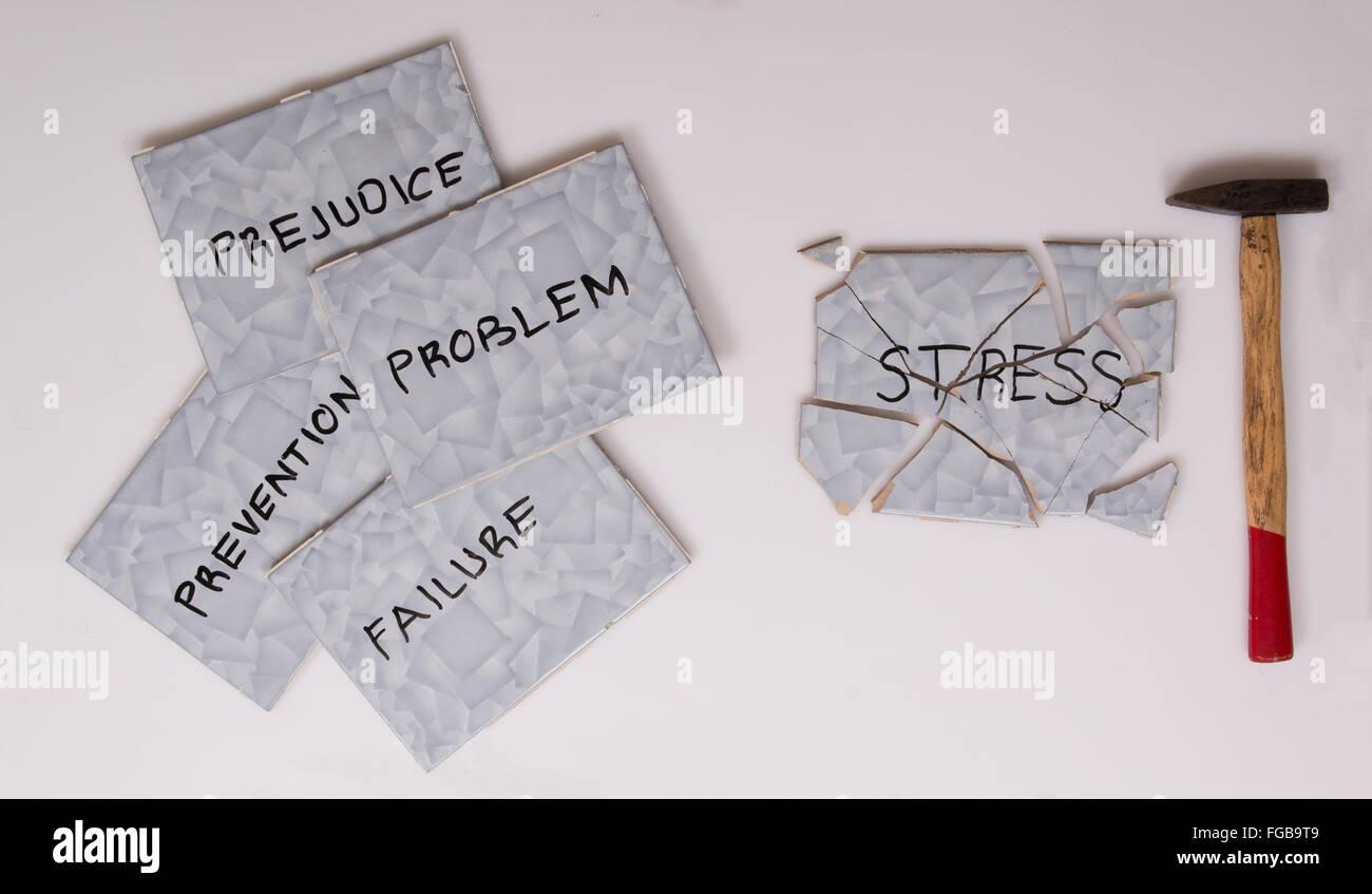 surmonter le stress Photo Stock