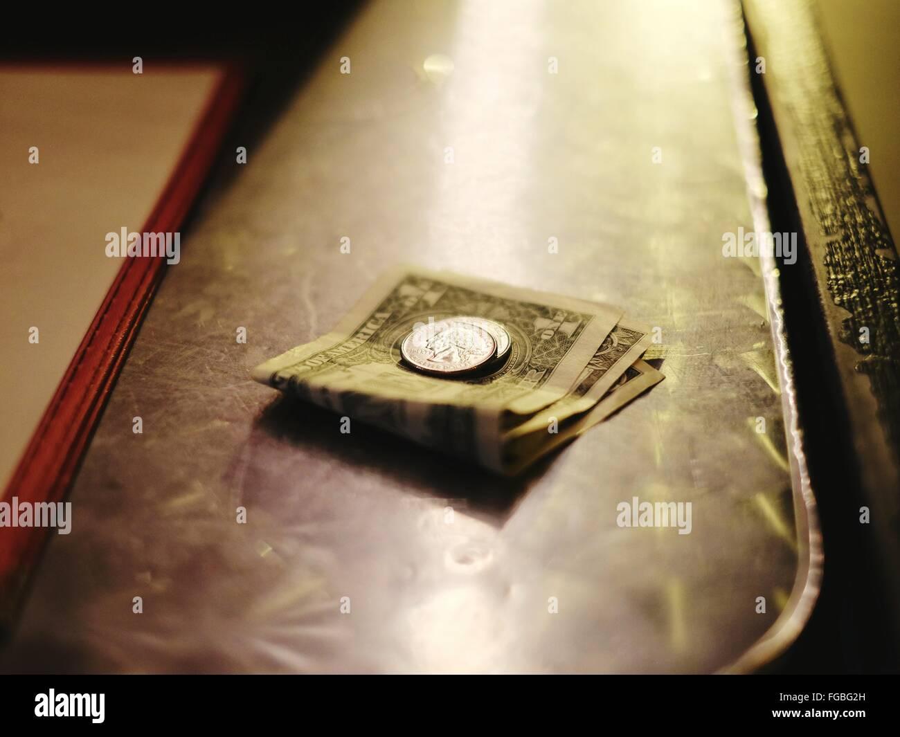Plan de papier monnaie et Dollar Photo Stock