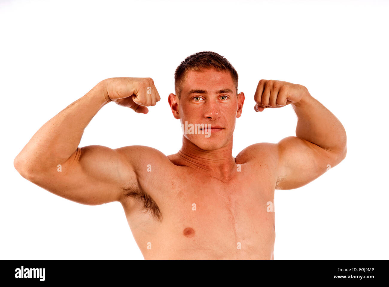 Man Flexing Muscles Photo Stock