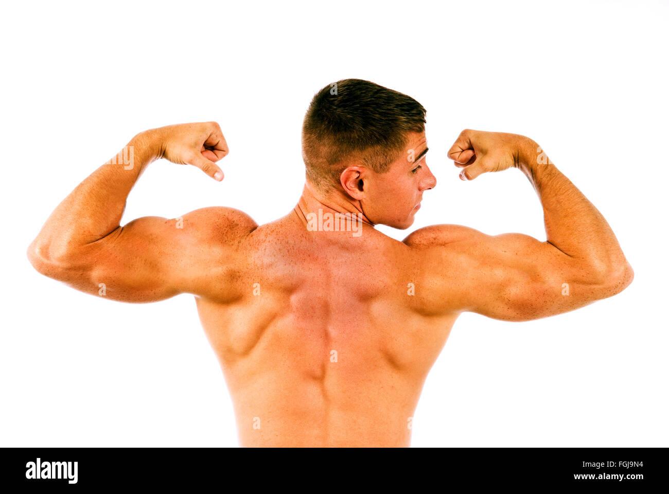 Jeune homme musclé Photo Stock