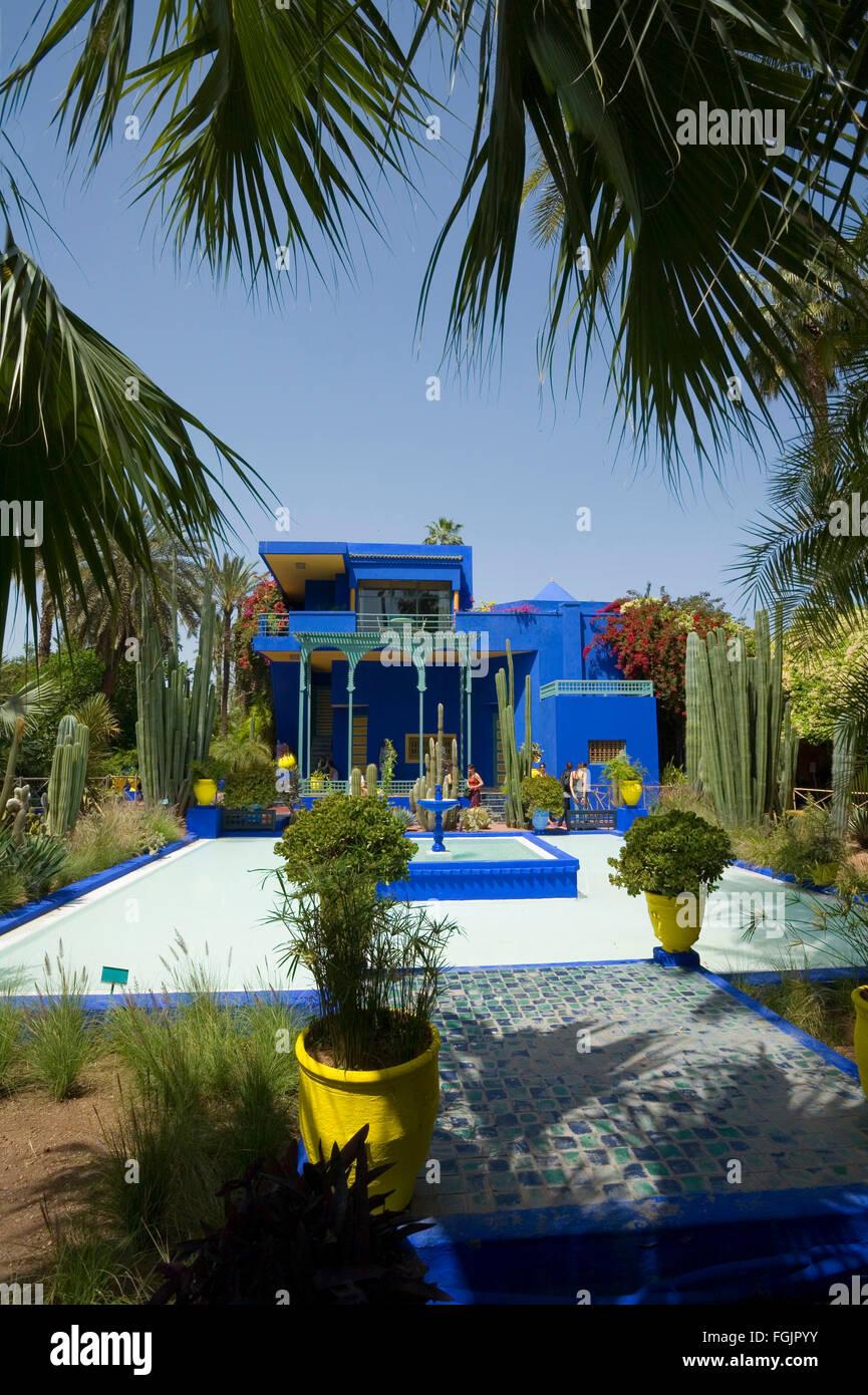 Les beaux jardins Majorelle à Marrakech Maroc Photo Stock