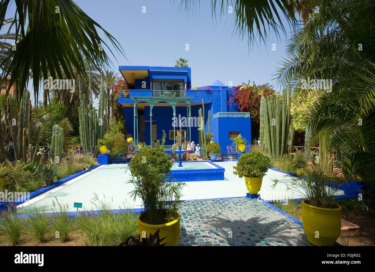 """La belle """"Jardins Majorelle' dans Marrakech Maroc Photo Stock"""