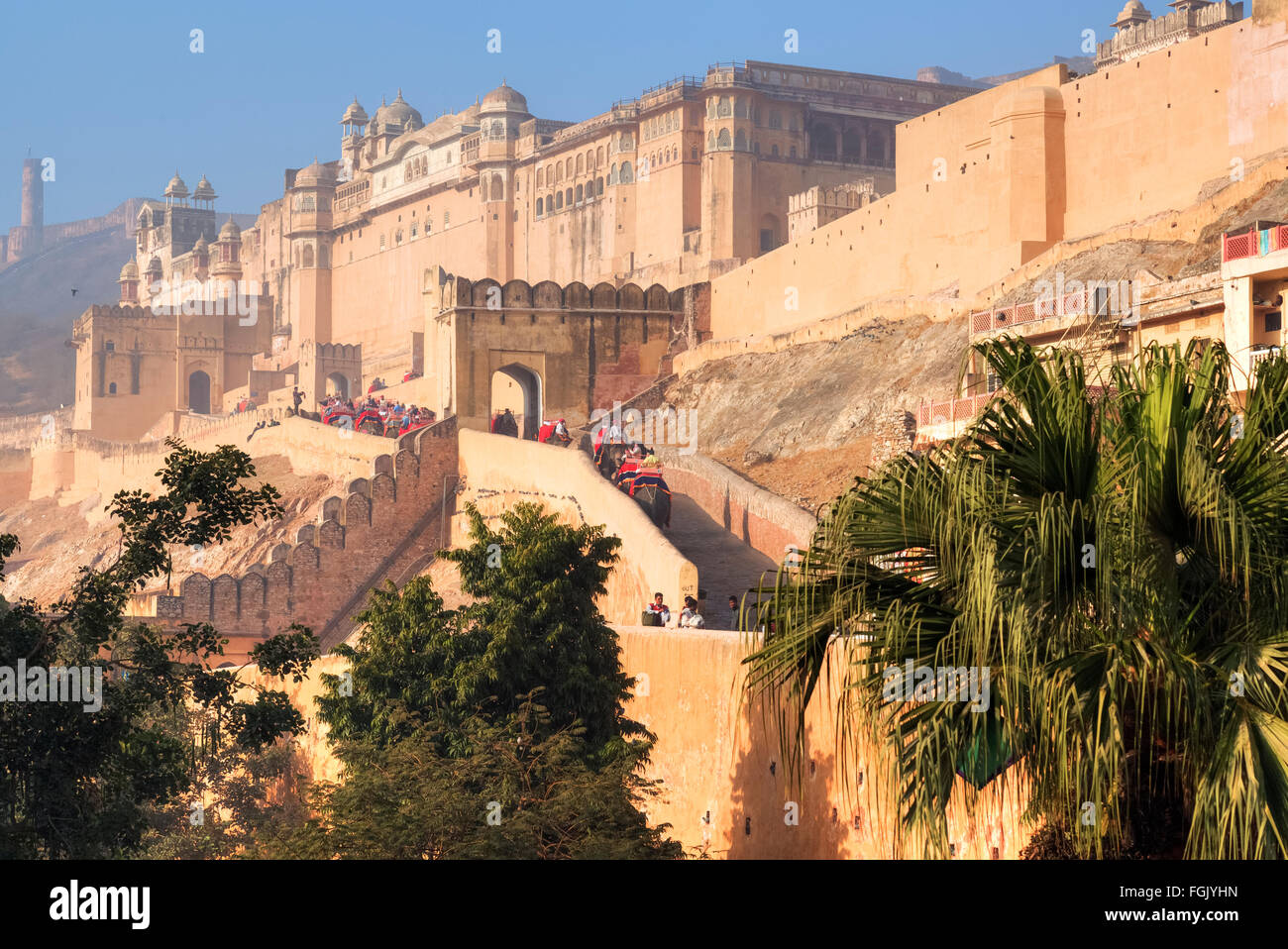 Fort Amer, Jaipur, Rajasthan, Inde Photo Stock