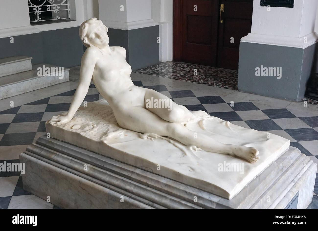 Statue représentant le Panama entre les deux océans Museo de Historia de Panamá par Erico Biaga à Photo Stock