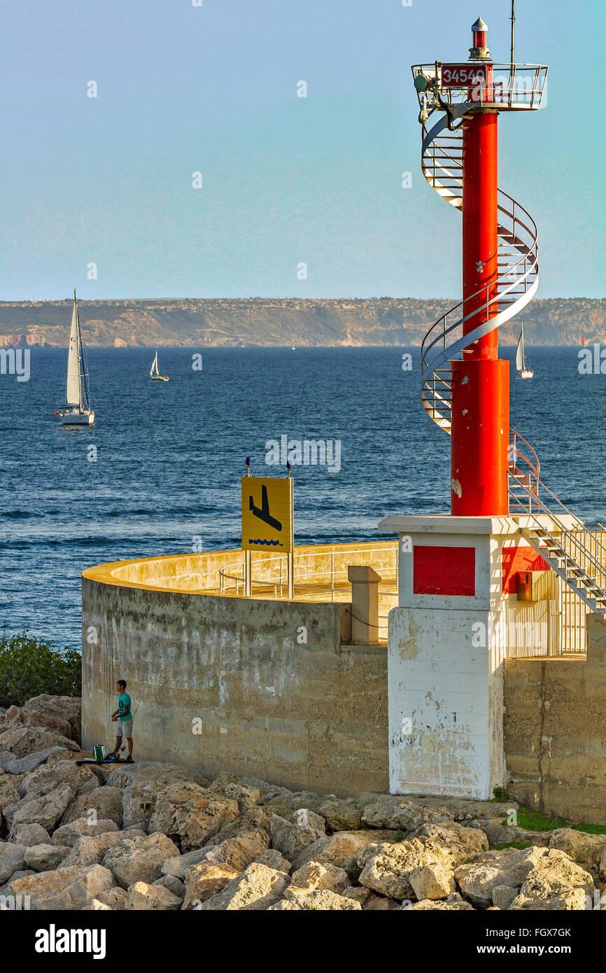 Pôle lumière Palma (Majorque Espagne Photo Stock