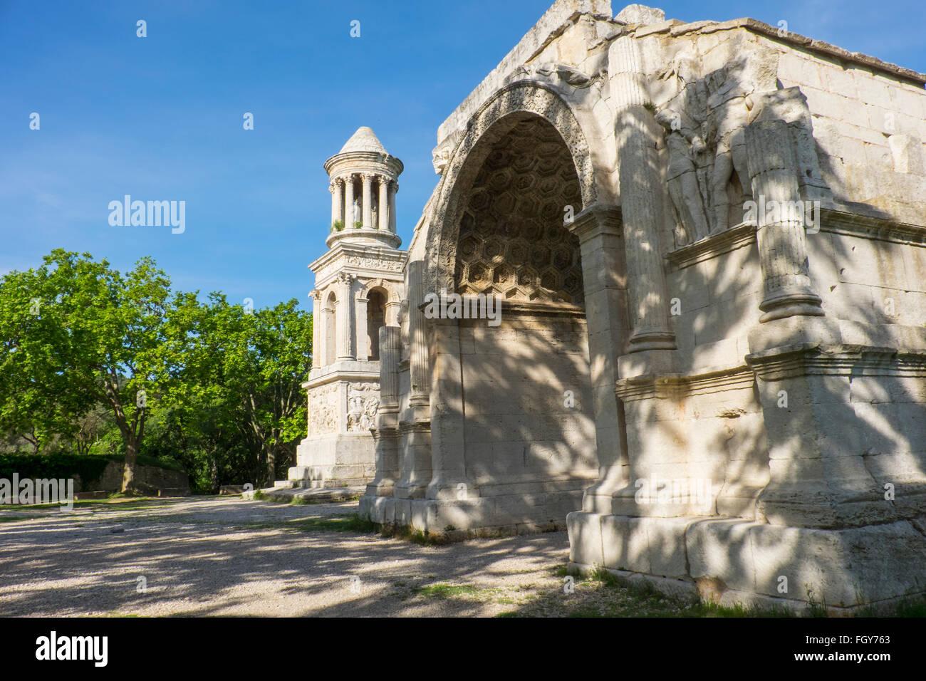 France, Saint Rémy de Provence dans le sud de la France, Glanum, une cité gréco-romaine qui étaient Photo Stock