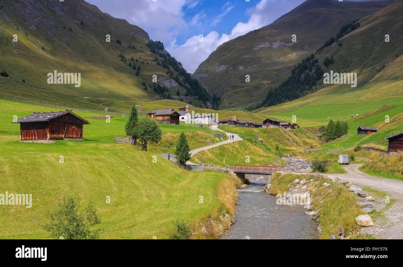 Dans den italienischen Alm Fane Dolomiten - Fane Alp en italien Dolomites Banque D'Images