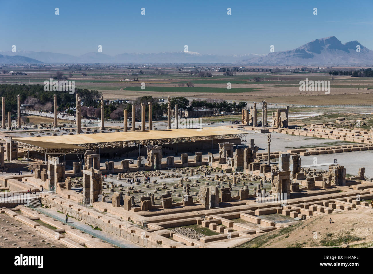 D'anciennes ruines de Persépolis, la ville la plus importante de l'ancienne Perse. Iran, 2016 Photo Stock