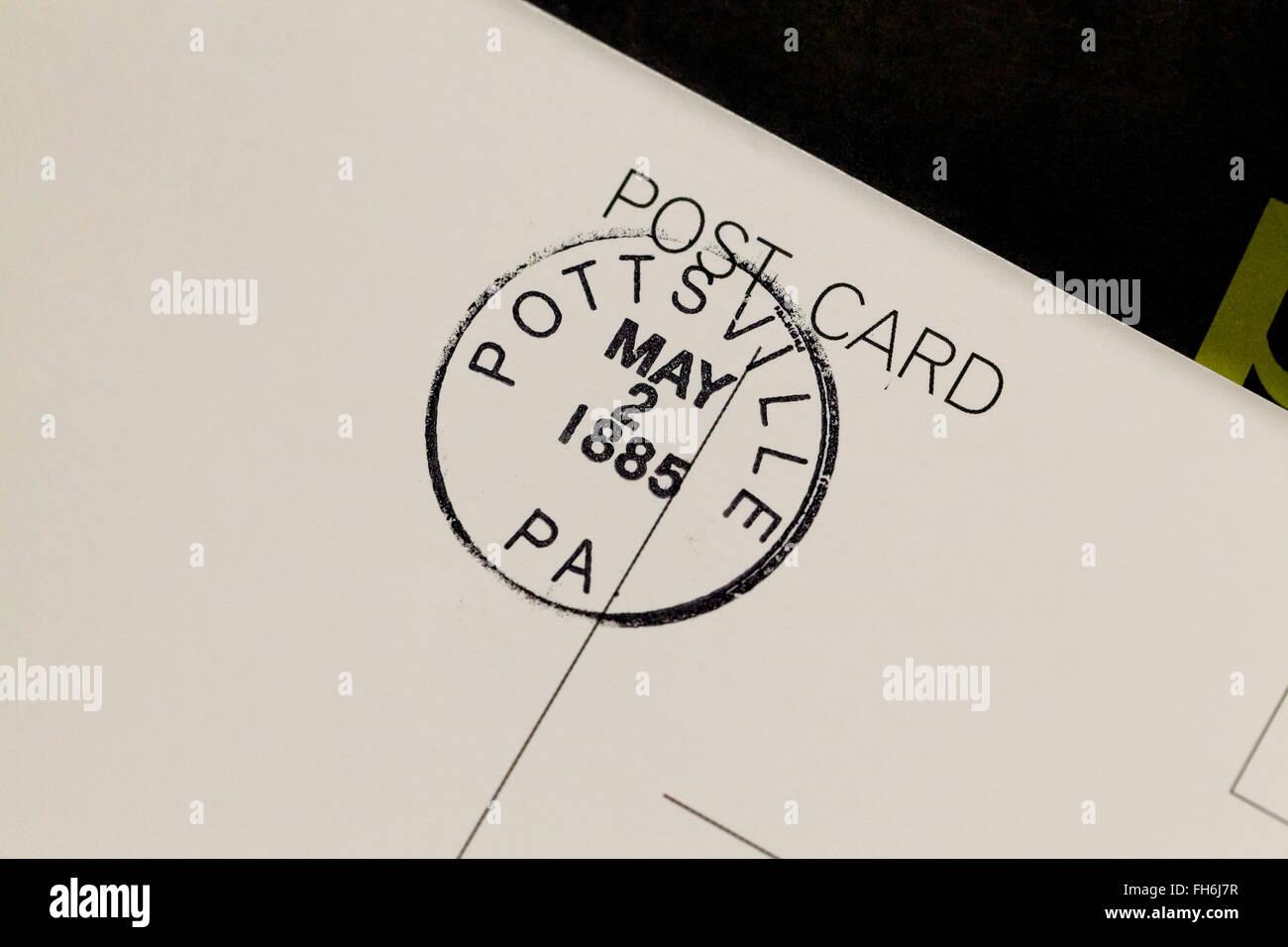 US d'oblitération sur carte postale - USA Photo Stock