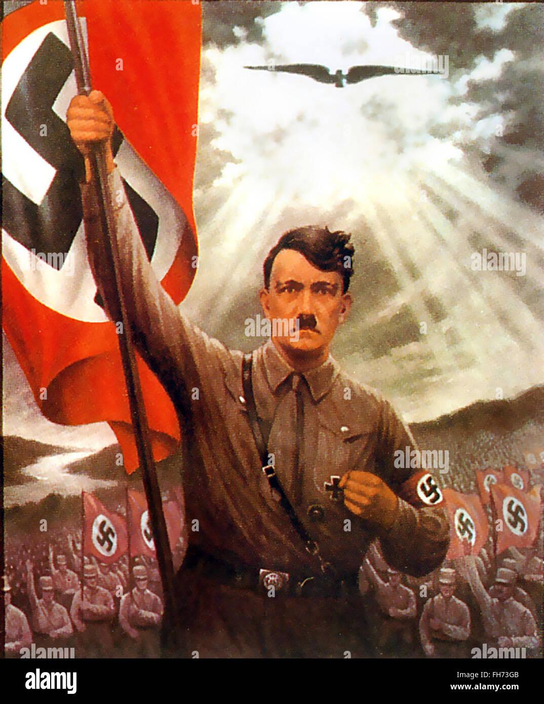 Es Lebe Deutschland - Hitler - Affiche de propagande nazie allemande - WWII Photo Stock