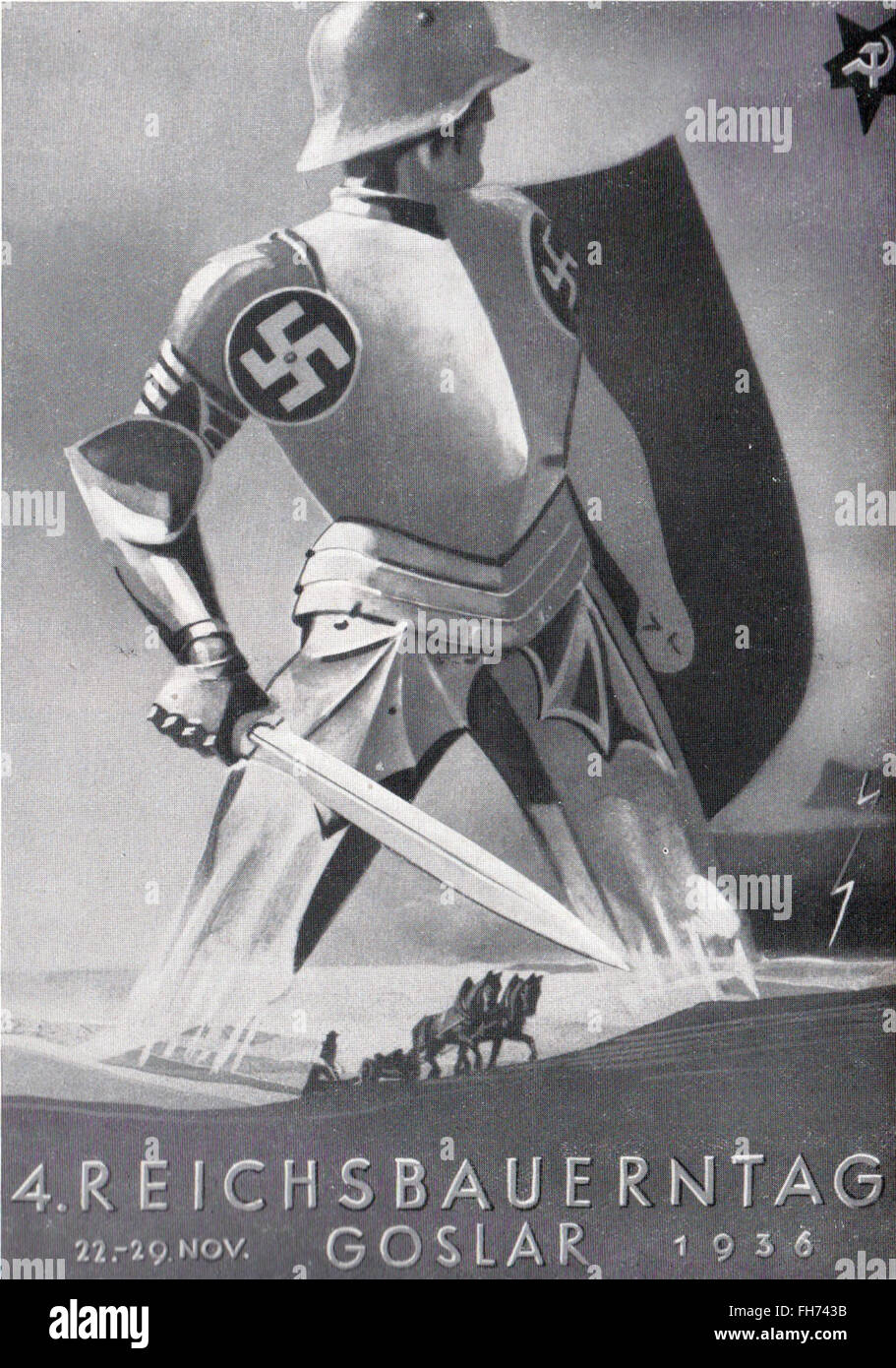 Reichsbauerntag - Affiches de propagande nazi allemand - 1936 Banque D'Images